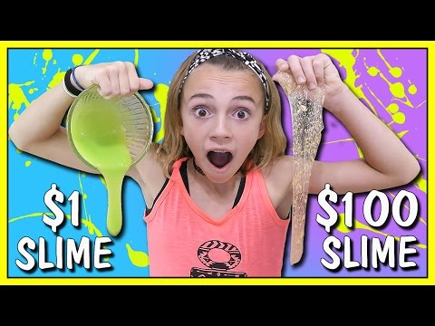 1 DOLLAR VS 100 DOLLAR SLIME | We Are The Davises