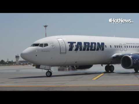 "TAROM Boeing 737-800 NG ""Sarmizegetusa"" - first landing on Bucharest Intl Airport"