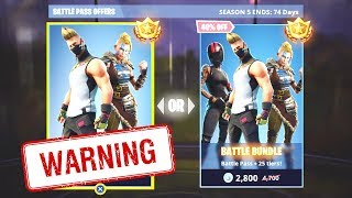 DO NOT BUY THE SEASON 5 BATTLE PASS until you watch THIS..