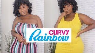 RAINBOW $10 SUMMER CLOTHING HAUL | CURVY TRY ON HAUL