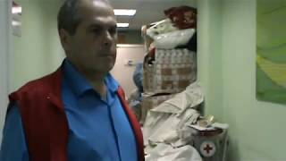 Разбор гуманитарной помощи в Иркутске