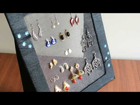 DIY Jewelry organizer – Earring holder