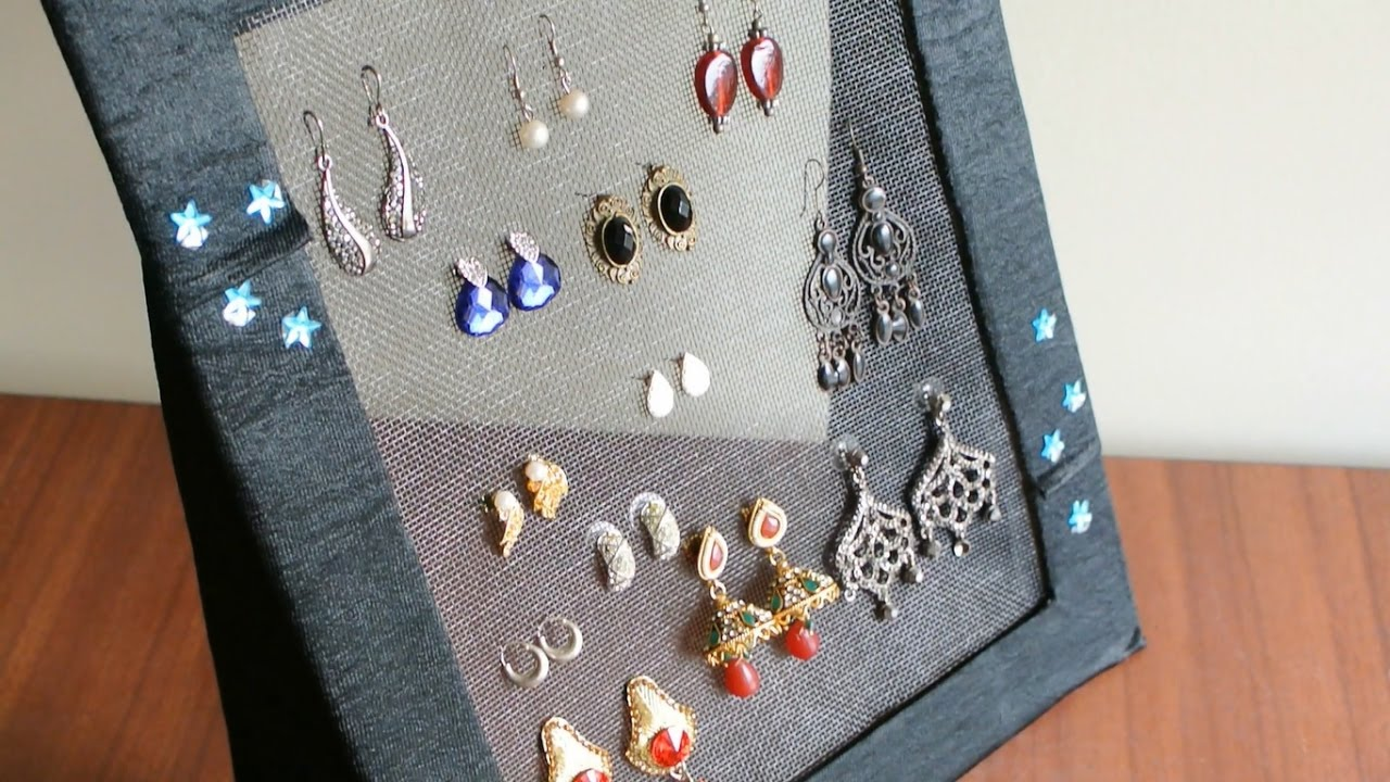 DIY Jewelry organizer Earring holder YouTube