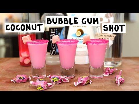 Coconut Bubble Gum Shot