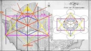 Washington DC Streets designed with symbols of Illuminati