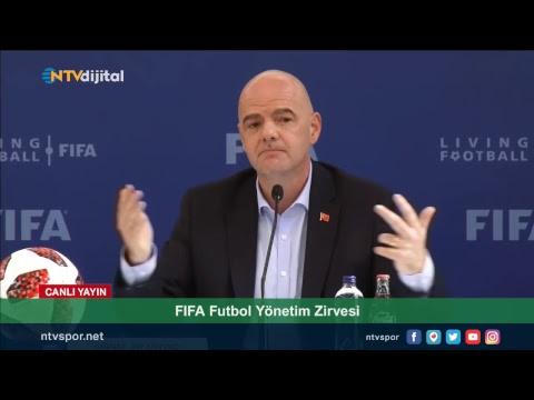 #CANLI - FIFA Başkanı Gianni Infantino, basın toplantısı düzenliyor