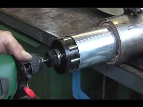 power tool driven pipe expander for round downspout
