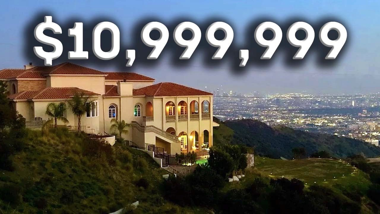 Inside an $8.5 Million Iconic Hollywood Hills Mansion with Breathtaking Views of Los Angeles!