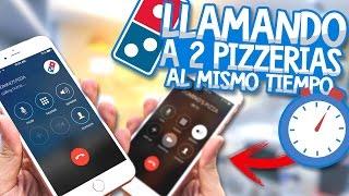 BROMA LLAMANDO A 2 PIZZERIAS AL MISMO TIEMPO 🍕📞 | TROLLEO PARTE 2
