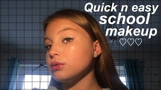 QUICK AND EASY SCHOOL MAKEUP | Basically Megan