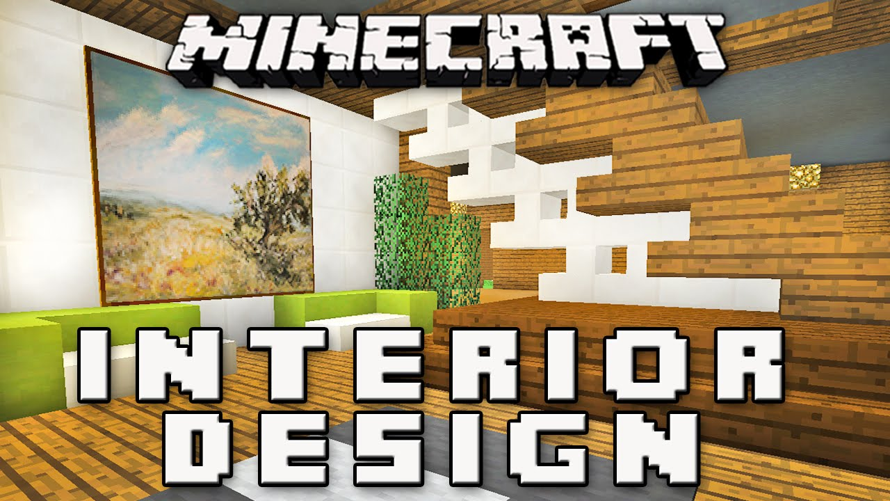 Minecraft tutorial how to make a modern interior house design part 8 youtube