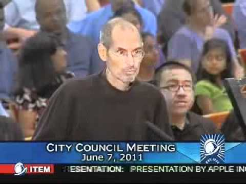 Steve Jobs Last Appearance Presentation To The Cupertino