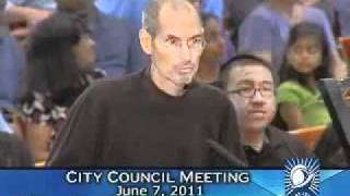 STEVE JOBS LAST APPEARANCE  Presentation to the Cupertino City Council June 7 2011