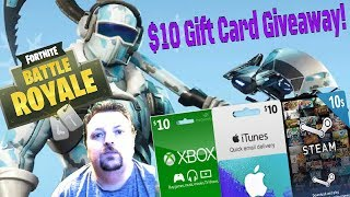 Fortnite / Solos / Duos / Squads / $10 Gift Card Giveaway! 🎁