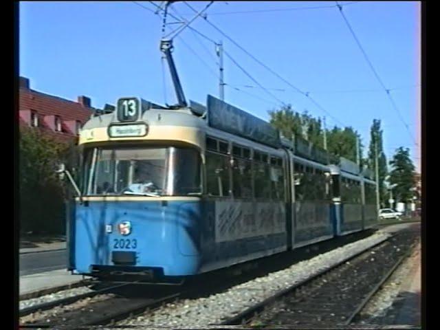 Mit der Linie 13 vom Hasenbergl zum Scheidplatz im Jahr 1992