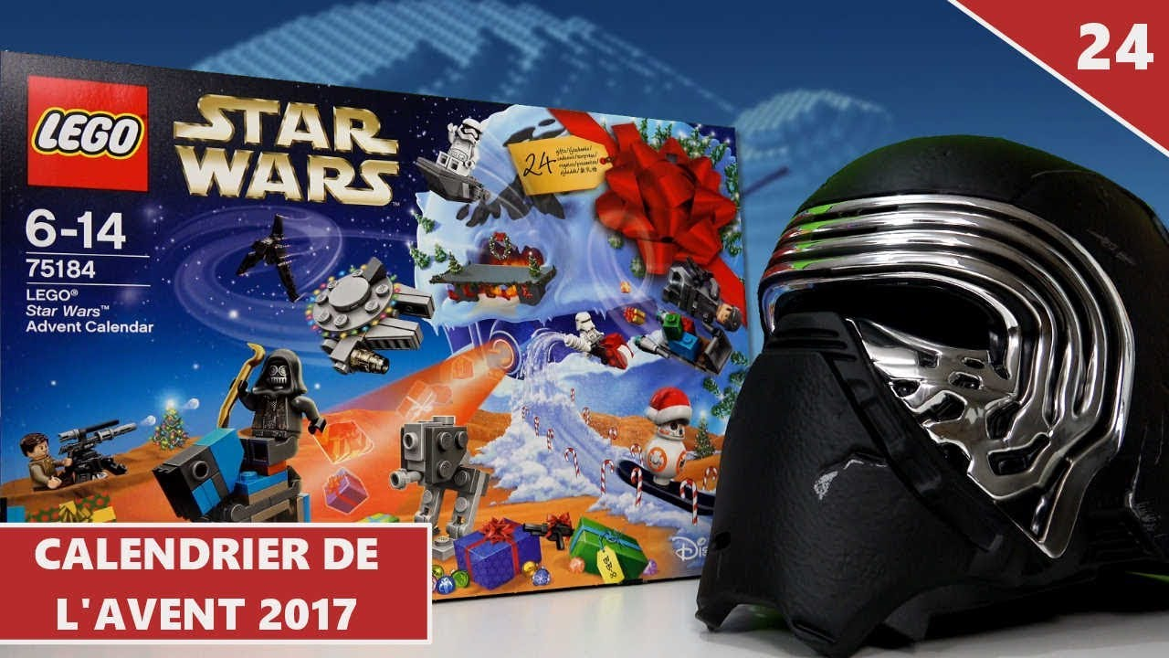 lego star wars calendrier de l 39 avent 2017 ouverture 24 youtube