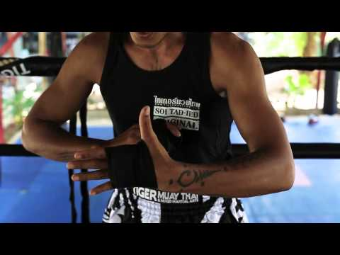 Basic Muay Thai technique  - hands wrapping