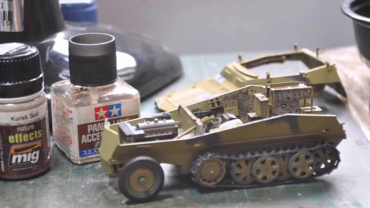 sd kfz 250 3 build tamiya 1 35 part 1 of 2 youtube. Black Bedroom Furniture Sets. Home Design Ideas