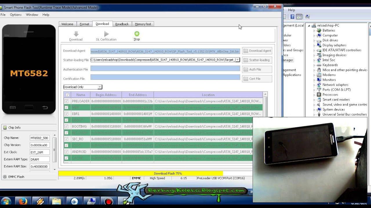 Flashing Lenovo A536 Bootloop Atau Gagal Root Youtube