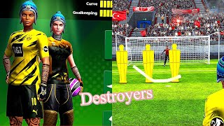 FOOTBALL STRIKE DESTROYING TURKEY TO ENGLAND PLAYING WITH MY FEMALE PLAYERS MC CREATIVE