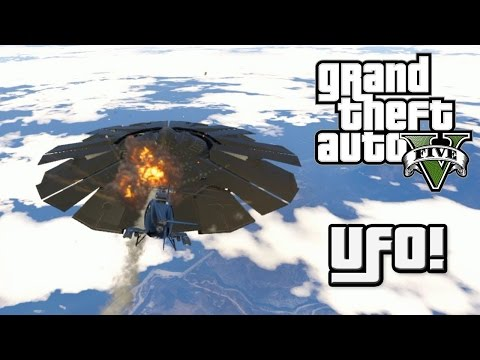 GTA 5 Tấn Công UFO Của Người Ngoài hành Tinh - Làm Phi Công Trong GTA V Tập 5