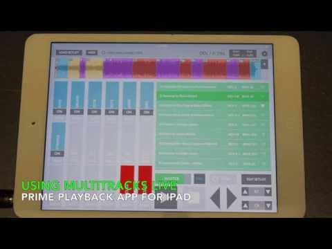 Using Multitracks Live: Prime Playback app for iPad