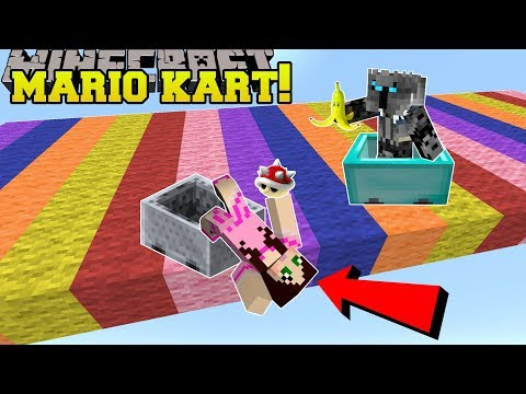 Minecraft: MARIO KART RACE!!! (POWER UPS, NEW RACES, & MORE!) Mini-Game