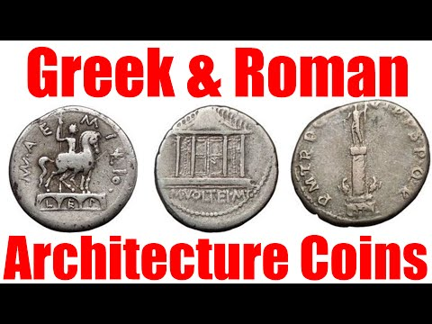 Ancient Roman and Greek ARCHITECTURAL Coins with Temples City Gates Columns and More