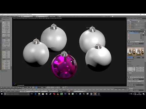 blender 3D modeling tutorial: Christmas ornaments