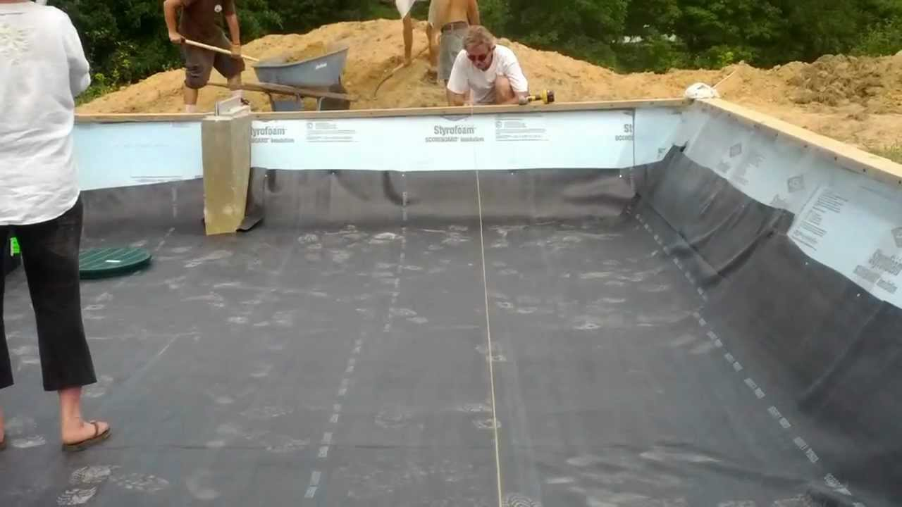 Pond Liner Into Footing Youtube