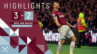 HIGHLIGHTS | WEST HAM UNITED 3-2 CRYSTAL PALACE | GOALS FROM SNODGRASS, CHICHARITO & FELIPE ANDERSON