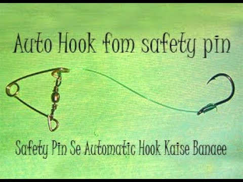Automatic Fishing Hook Made From Safety Pin