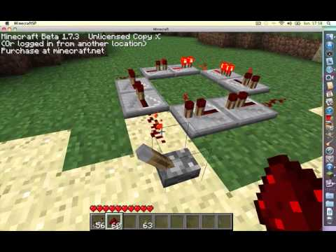 how to make a looping redstone circuit