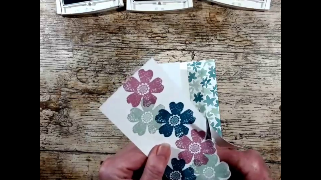 Stampin Up Flower Shop Stamp Set And Pansy Punch Card Youtube