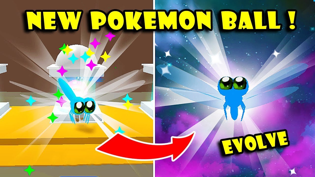 *NEW* POKEMON BALL UPDATE & EVOLVE NEW RARE PETS In PET TRAINER SIMULATOR!! [Roblox]