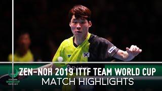 Fan Zhendong vs Jang Woojin | ZEN-NOH 2019 Team World Cup Highlights (Final)