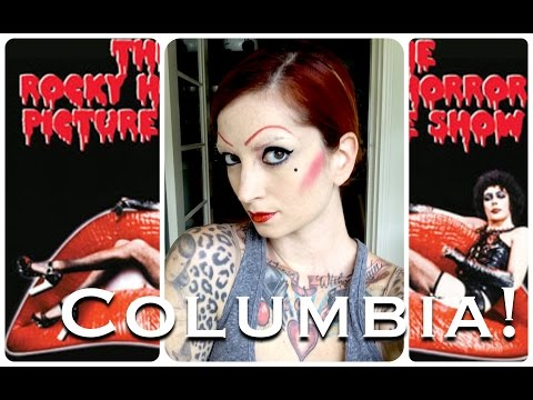 Columbia Rocky Horror Picture Show Halloween Hair & Makeup Tutorial by CHERRY DOLLFACE