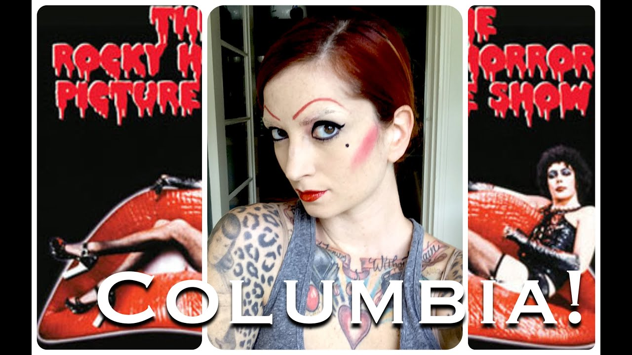 columbia rocky horror picture show halloween hair & makeup tutorial