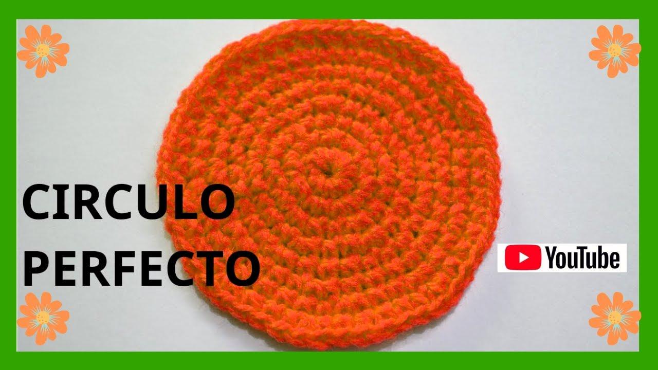 Como tejer un circulo perfecto en tejido crochet o ganchillo ...
