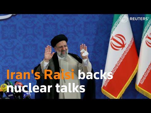 Iran's President-elect Raisi backs nuclear talks