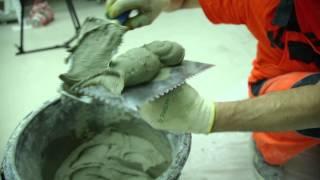 3. Замешивание и процесс укладки: Укладка плитки на стену с использованием Крепс Усиленный(Укладка керамической плитки на стену имеет множество нюансов, учитывать которые строго необходимо - от..., 2014-05-16T15:10:50.000Z)