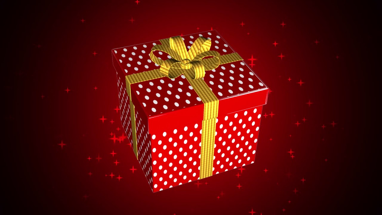Animated gift box video background youtube animated gift box video background negle Images