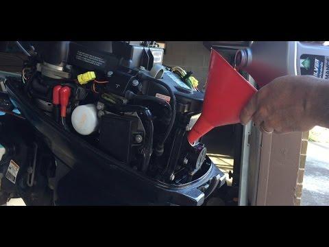 2009 Mercury 20 HP 4-stroke oil change