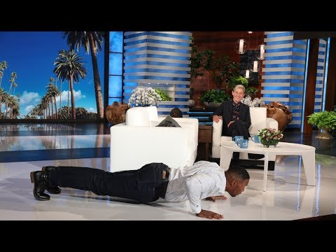 Ellen Dares Michael Strahan to a Push-Up Challenge