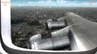 Realistic Flight Simulator X, CaptainSim Boeing 707, Landing, Manchester Extreme