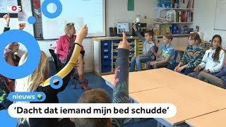 Kinderen in Groningen schrikken wakker van aardbeving