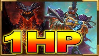 Hearthstone: The Ultimate 1HP Comeback! Rafaam Into Deathwing Saved Me!