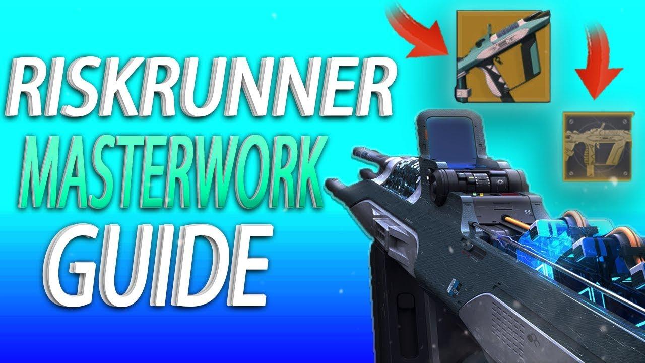 Destiny 2 Riskrunner Masterwork Easy Tutorial How To Unlock Catalyst Fast Youtube