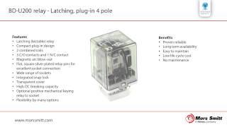 BD U200 relay - Latching, plug in 4 pole
