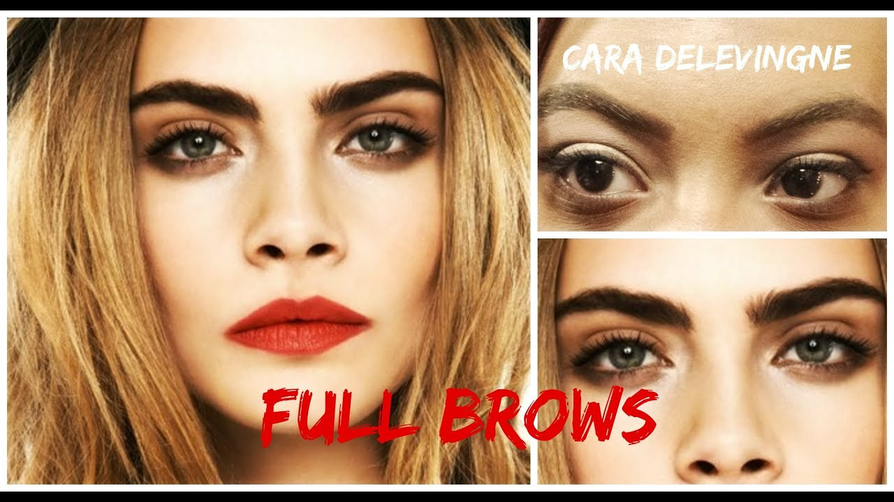 How To Get Full Brows Like Cara Delevingne ♡ How To